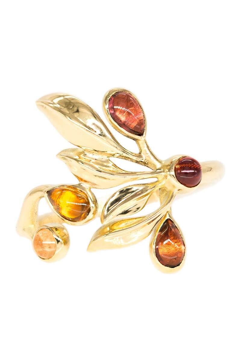 VON KRONBERG Goldener Herbst Ring, 18 Karat nachhaltiges Gelbgold