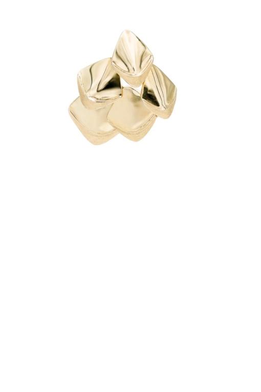 VON KRONBERG Golden Pinecone Ohrstecker, 18 Karat nachhaltiges Gold