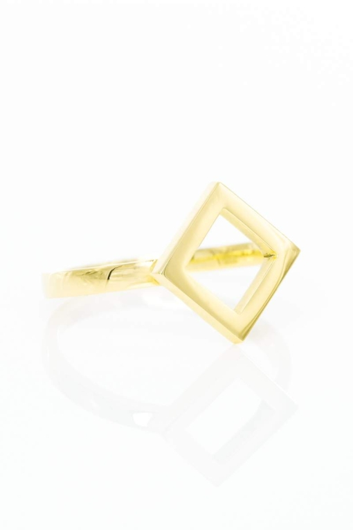 Ring Square, Gelbgold