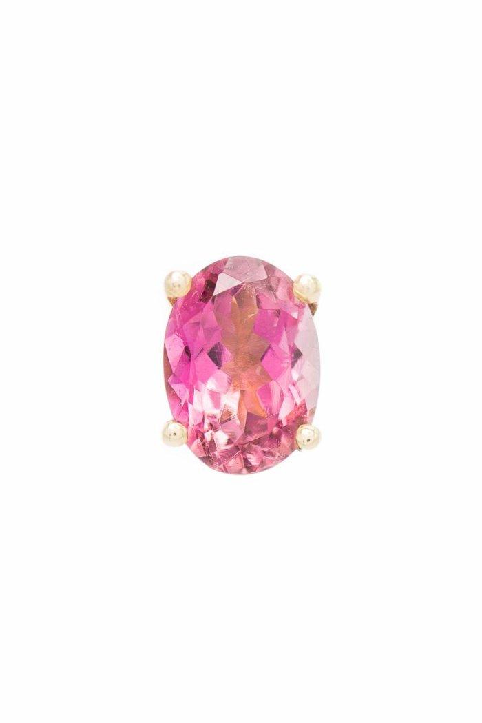Turmalin Ohrstecker, rosa