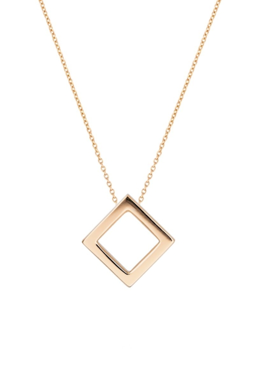 Square Collier, 18 Karat Rotgold