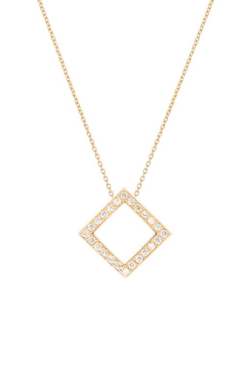 VON KRONBERG Square Collier, 18 Karat nachhaltiges Rotgold, im Labor gezüchtete Diamanten