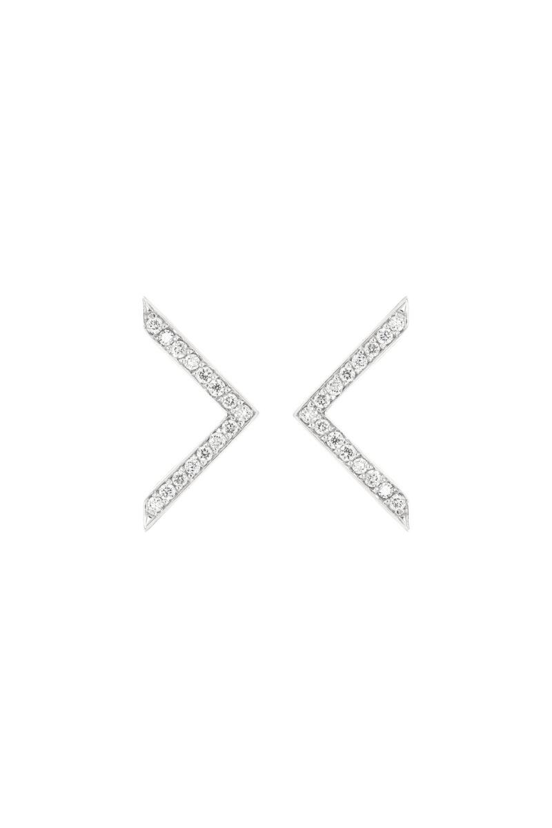 VON KRONBERG Victory Ohrstecker, 18 Karat nachhaltiges Weißgold, im Labor gezüchtete Diamanten