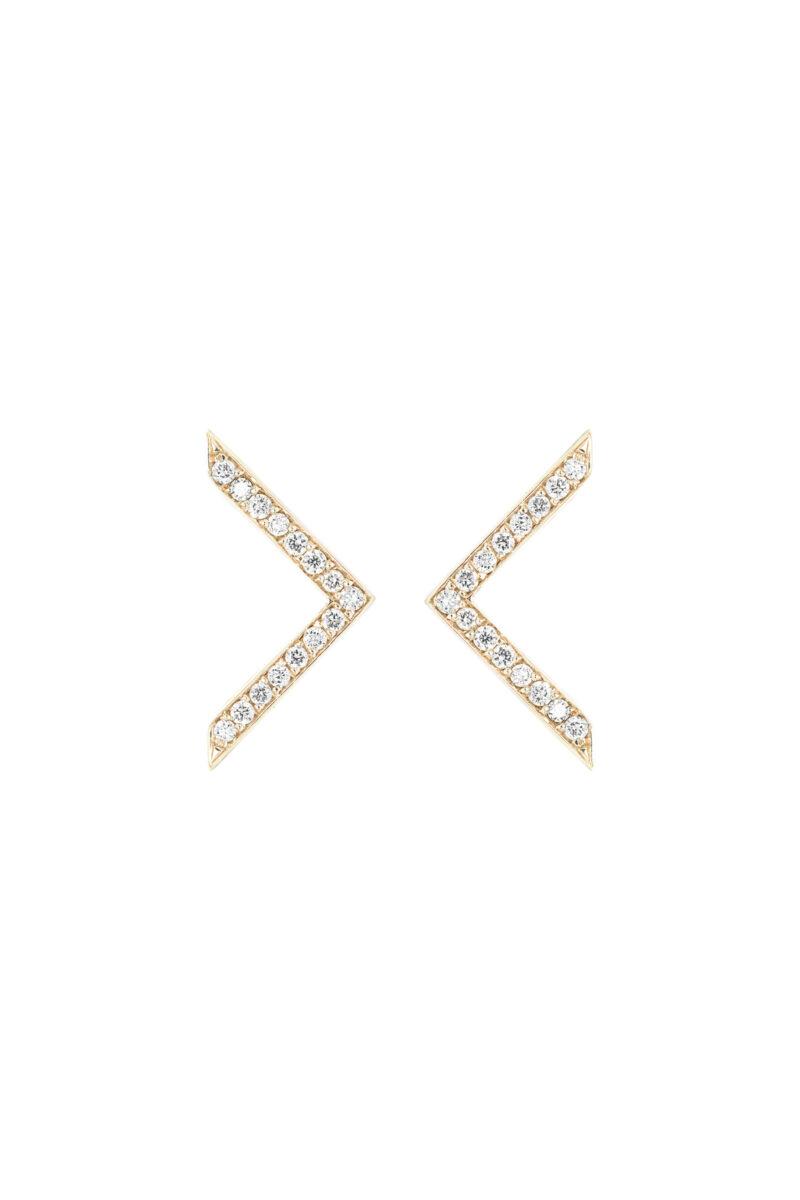 VON KRONBERG Victory Ohrstecker, 18 Karat nachhaltiges Gold, im Labor gezüchtete Diamanten