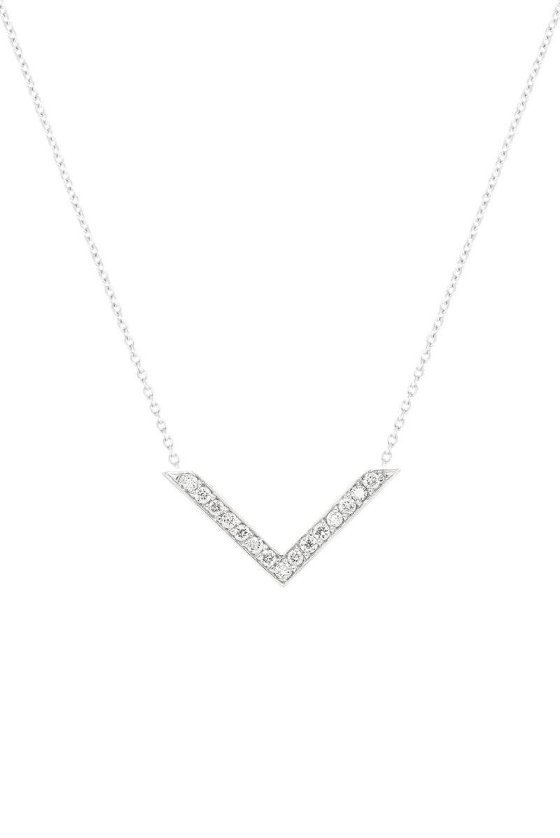 VON KRONBERG Victory Collier, 18 Karat nachhaltiges Weißgold, im Labor gezüchtete Diamanten