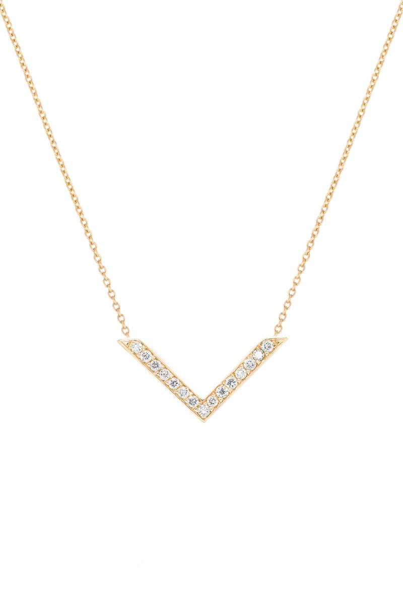 VON KRONBERG Victory Collier, 18 Karat nachhaltiges Rotgold, im Labor gezüchtete Diamanten