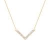 VON KRONBERG Victory Collier, 18 Karat nachhaltiges Gold, im Labor gezüchtete Diamanten