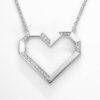 VON KRONBERG PURE Love Collier, 18 Karat nachhaltiges Weißgold, im Labor gezüchtete Diamanten