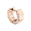 Puristischer Octagon Diamant Ohrring aus 18 Karat (750) recyceltem Roségold mit polierten Facetten